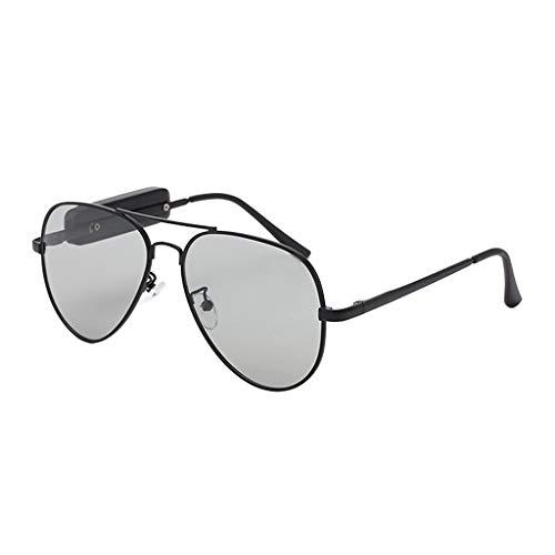 IPOTCH Auriculares Bluetooth de Audio para Gafas de Sol, Auriculares con Gafas Polarizadas, Manos Libres Móviles para Hombres Y Mujeres - Color 03