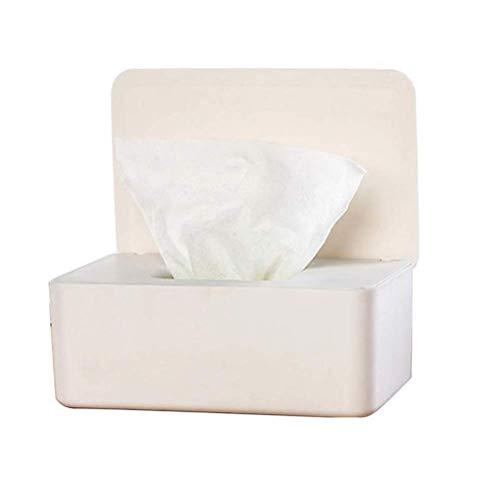 YLLAND Caja de papel de seda seca húmeda toallitas servilleta caja de almacenamiento contenedor toallitas dispensador hogar titular de pañuelos LNNDE