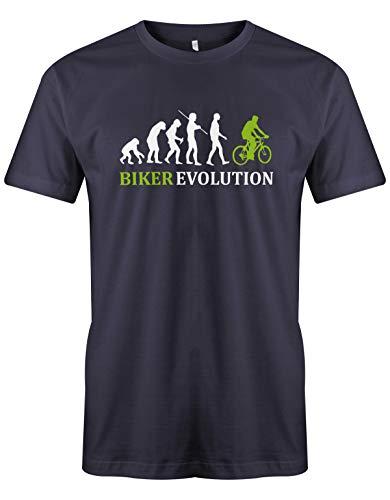 Jayess Biker Evolution - Herren - T-Shirt in Navy by Gr. L