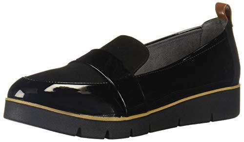 Dr. Scholl's Shoes Women's Webster Loafer, Black Patent/Microfiber, 9 M US