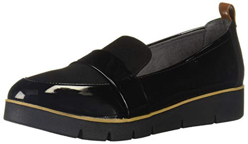Dr. Scholl's Shoes Women's Webster Loafer, Black Patent/Microfiber, 8.5 M US