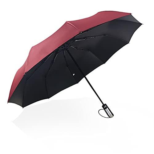 CYMX Paraguas - Paraguas Automático a Prueba de Viento para Mujeres y Hombres, Parasol Portátil con 99% de Protección UV para el Sol y la Lluvia Paraguas Plegable