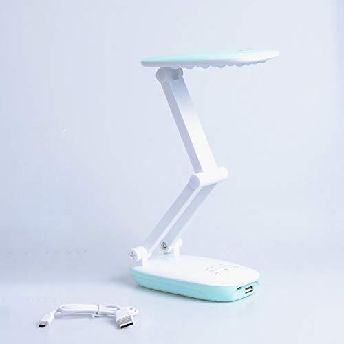 4 Modi Dimmer TragbareLED-Schreibtischlampe Power Bank 2400mAh Batterie zusammenklappbar3-lagig Gehäuse TischleuchteWiederaufladbare LED-Tischlampen