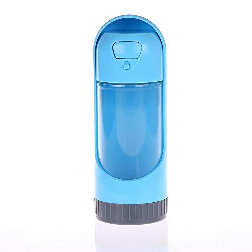 Garrafa água bebedouro portátil pet cachorro passeio Azul