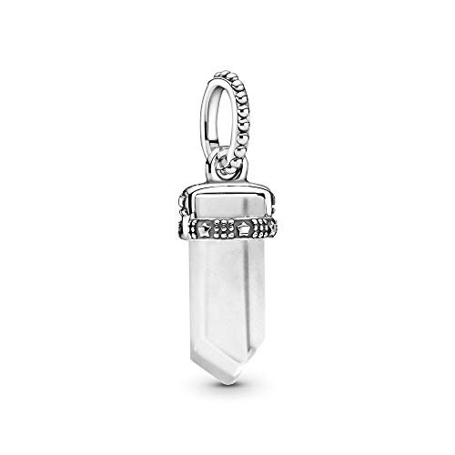 LISHOU Charm Beads 925 Plata De Ley Muérdago Colgante Moda Diamante Cristal Se Adapta A Pulsera Collar para Mujeres Niñas Esposa Hija Joyería De Bricolaje Fabricación De Regalos Plata