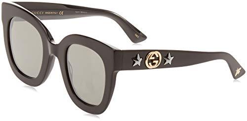 Gucci GG0208S 002 Occhiali da Sole, Nero (2/Grey), 49 Donna