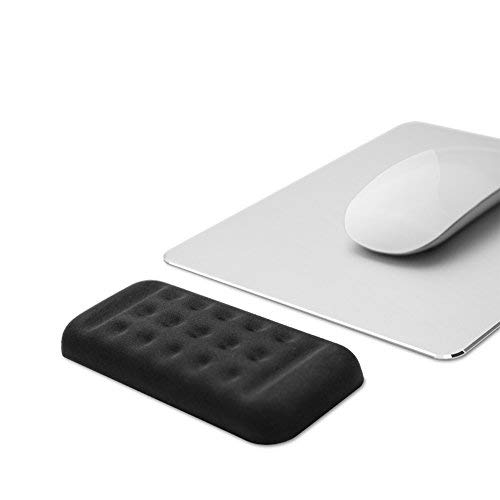 Mouse Wrist Rest Pad Padded Memory Foam Hand Rest Support for Office, Computer, Laptop, Mac Typing and Wrist Pain Relief and Repair (5.12 inch, Black)
