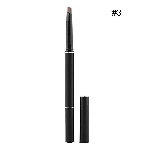 Crayon à sourcils, Crayon à sourcils durable à double tête étanche aux taches avec brosse à sourcils, vous aide à créer une jolie couleur de sourcils(#3)