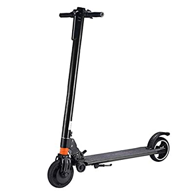 Highpot_Home Kids/Adult Folding Electric Scooter, 3 Speed Up to 25 MPH 15.5 Miles Portable Folding Commuting Scooter with Double Braking System (Black)