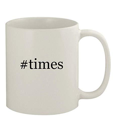 #times - 11oz Ceramic White Coffee Mug, White