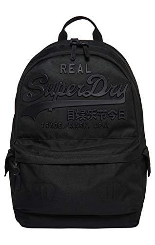Superdry - Premium Goods Backpack, Hombre, Negro (Nero), 15x45x34 cm (W x H L)