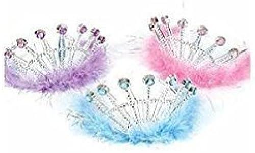 Tienda 2018 Jeweled Feather Princess Tiaras (1 dz) by Rhode Island Island Island Novelty  grandes ofertas