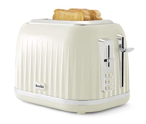 Breville VTT748 Impressions 2-Slice Toaster with High-Lift and Wide Slots, Cream