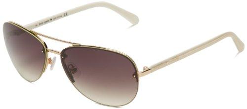 Kate Spade New York Women's Beryl Aviator Sunglasses, Rose Gold, 59 mm