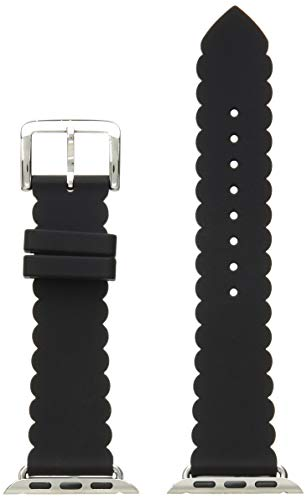 kate spade new york 38mm Apple Watch Band, Black Silicone, KSS0018