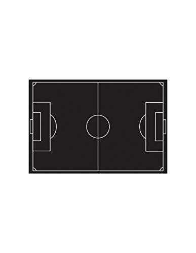 Sticker Ardoise : Terrain de Foot - Format : 60 x 38 cm