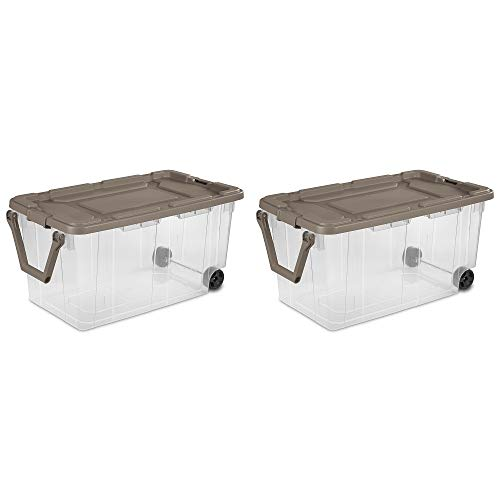 Ultra Storage Bin 2pc Clear Weathertight 40gal Box with Handle Portable Container Latching Lid Durable Organizer Mudroom Garage Workshop Laundry Easy Mobility eBook by BADAshop