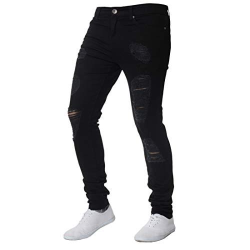 Fulision Pantalones de lápiz de los hombres pantalones de mezclilla pantalones de pies pequeños pantalones deportivos ocasionales cintura baja hombre adolescente jeans ajustados