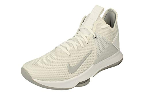 Nike Herren Lebron Witness IV Basketballschuhe, Weiá (White/Wolf Grey-Pure Platinum), 40 EU