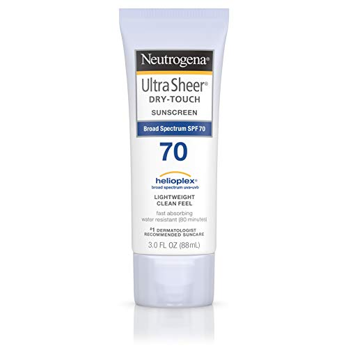 Neutrogena Ultra Sheer Dry-Touch Sunscreen Lotion, Broad Spectrum SPF 70, 3 Fl Oz