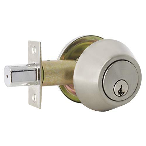 Probrico Edelstahl-Sicherheitstürschloss mit Riegel und Schlüssel, mit Sicherheitsknauf, Eingangstür-Sicherheitsschloss