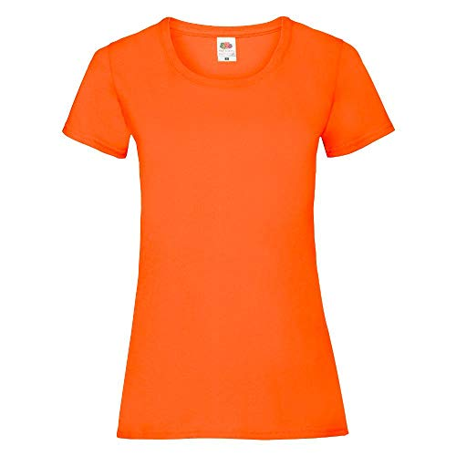 Fruit of the Loom - Lady-Fit Valueweight T - Modell 2013 M,Orange