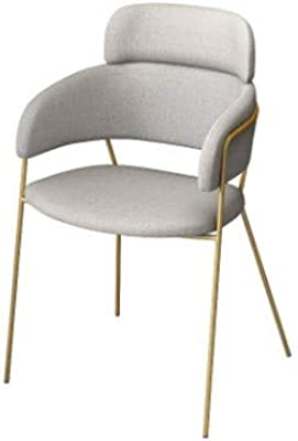 HSJWOSA Simple Casual Single Fabric Chair Designer Coffee Shop Negotiation Creative Dining Chair Conference Computer Chair (Color : Gray)