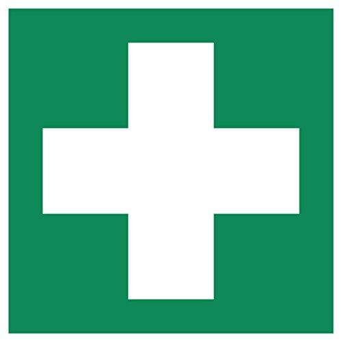 Erste Hilfe Aufkleber vom Aufkleberprofi - Aufkleber Erste Hilfe 105 x 105 mm vorgestanzt Warnzeichen