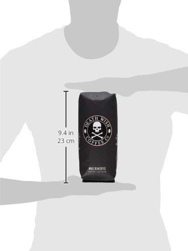 DEATH WISH COFFEE Whole Bean Coffee [16 oz.] The World's Strongest, USDA Certified Organic, Fair Trade, Arabica and… 4 WORLD'S STRONGEST COFFEE: Our whole coffee beans will transform your basic cup of joe into a delicious, bold, and intense beverage that will revolutionize your morning. QUALITY BREW: Hands down, the best whole coffee beans in the world. One sip of our best-selling coffee will have you saying goodbye to store-bought forever. Enjoy the highest quality energy and artisanal flavor with every sip of Death Wish Coffee. BOLD FLAVOR: Immerse yourself in a smooth, subtle, never bitter cherry and chocolate flavor profile. We've carefully selected premium Arabica and Robusta whole coffee beans from around the world to deliver you a dark roast coffee beverage with a bold taste you'll instantly fall in love with.