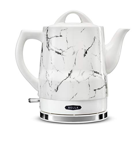 BELLA 14743 Electric Tea Kettle, 1.5 LITER, White Marble
