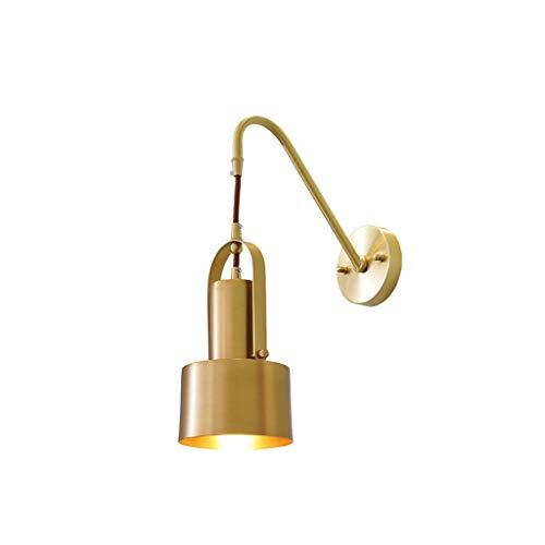 Wandlamp Nordic wandlamp, postmodern, volledig van messing, restaurant slaapkamer, met één hoofd, persoonlijkheid, creatief, messing, samen met het bed, koper