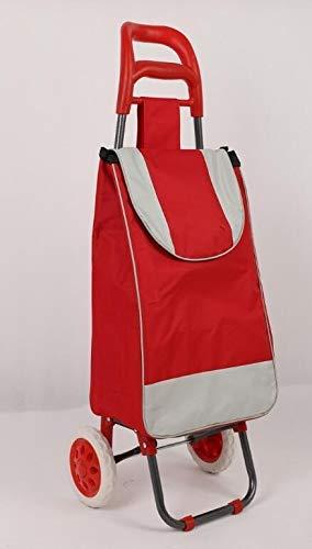 WZGGZWGG - Carrito de compras plegable para carrito de compras (color: rojo 0235, tamaño: gratis)