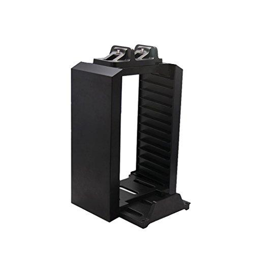 Almencla 12 Platten Speicher Tower Halter Mit Controller Ladestation