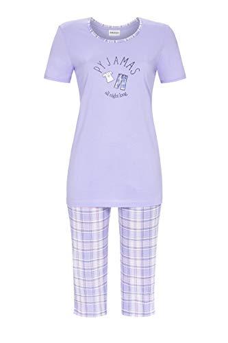 Ringella Damen Pyjama mit Caprihose ciel 46 1211223, ciel, 46