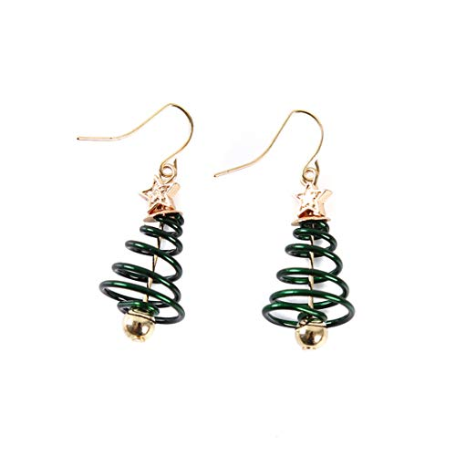 Idiytip Christmas Tree Earrings Spring Christmas Dangle Drop Earring Party Jewelry Women Xmas Gift