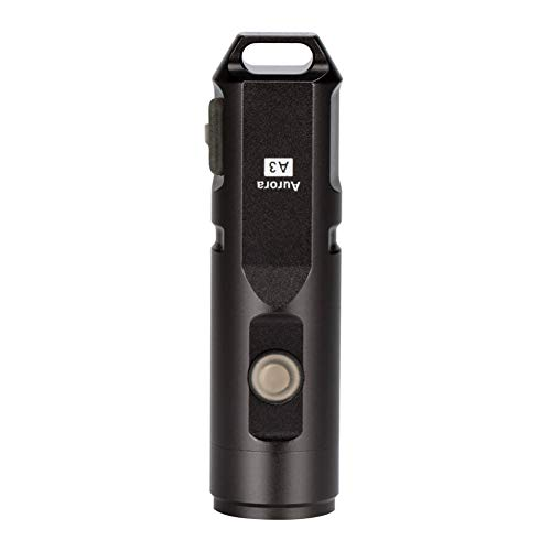 RovyVon Linterna LED Recargable,EDC Mini Linterna,Flashlight LED de 5 Modos,Resistente Al Agua IPX5,Para Ciclismo Cámping,Hiking(A3 arma gris)