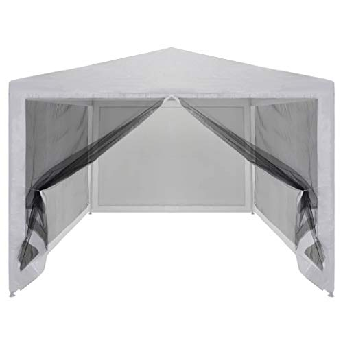 4x3m Pop Up Garden Canopy Waterproof UV-Resistant Gazebo Camping Tent Shelter Outdoors with 4 Mesh Sidewalls Powder-coated Steel, 4 x 3 x 2.55 m