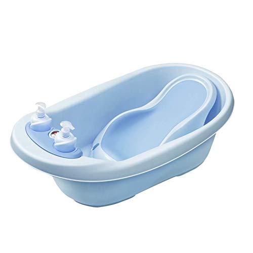 AOO Baño de bebé, con Marco de baño Antideslizante, Puede Sentarse acostado, artículos de baño recién Nacidos, detección de Temperatura para bebés niños de 0 a 6 años de Edad