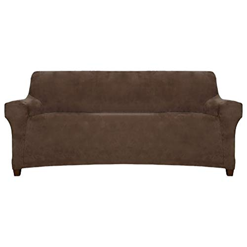 ACOMOPACK Sofa Slipcovers Premium Velvet Stretch Sofa Cover for 3 Cushion Couch, High-Stretch Sofa Protector Couch Cover