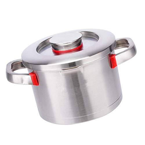 XJJZS Stainless Steel Cookware, Induction Compatible, Dishwasher Safe, Non Slip Handles, Pots and Pan