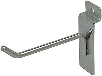 4 White Slatwall Hooks Box of 25