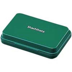 (まとめ)シヤチハタ スタンプ台 HGN-1-G 小形 緑【×10セット】 〈簡易梱包