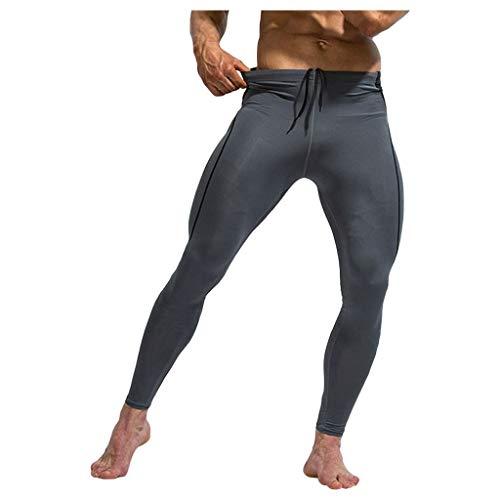 Leggings Homme Sport,ITISME Compression Collant Homme Pantalon De Sport Running Musculation Respirant en Coton Imprimé Thermiques Longs Jogging Base Laye Cyclisme Course