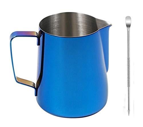 buycheapDG(JP)ミルクジャグ 耐熱 350mL メジャーカップ 本体304厚のステンレス鋼 ステンレススチール泡立て投手水差し蒸し投手用コーヒー、ラテ、泡立てミルク ベーキング 電子レンジ対応 把手付 キッチン