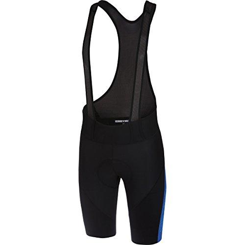 Castelli Velocissimo IV Bib Short - Men's Black/Surf Blue, L