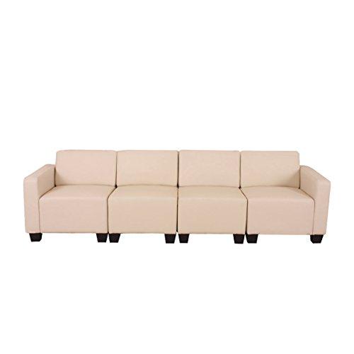 Sistema modulare Lione N71 salotto ecopelle divano 4 posti ~ avorio