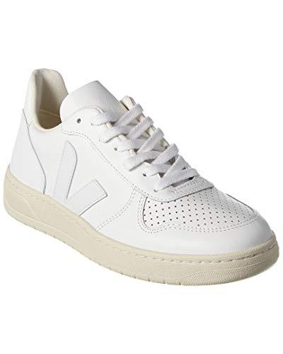 Veja V-10 Leder-Sneaker, Wei� (weiß), 43 EU