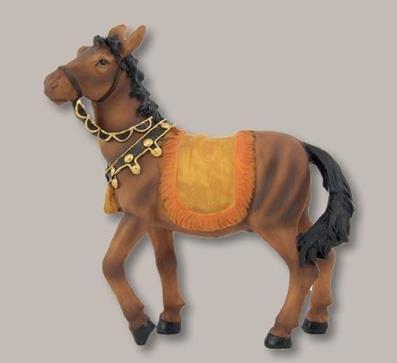 Unbekannt Krippenfiguren Pferd Höhe 15cm geeignet für 12-15cm Figuren