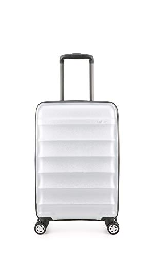 Antler Portobello Cabin Luggage | Carry On Suitcase | Hand Luggage Suitcases | Small Suitcase on Wheels | Hard Shell Cases | Lightweight Travel Trolley | Cabin Suitcase | 4 x Double Spinner Wheels |
