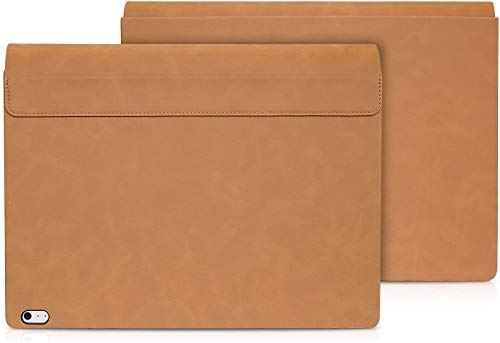 Funda para Surface Book 3 2 de 13,5 pulgadas con tapa extraíble para Microsoft Surface Book 3/2 (piel sintética, Intel i7), color marrón